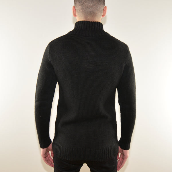 PULLOVER SWEATER - TURTLENECK ZIP-UP