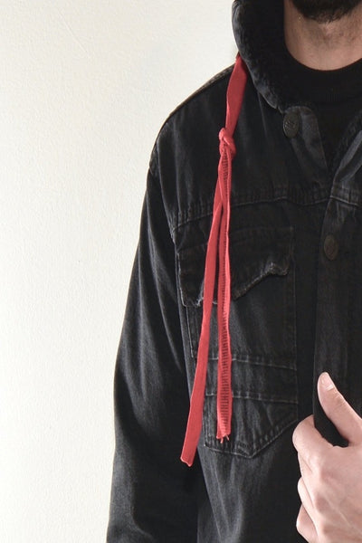 LONG FIELD JACKET - BLACK