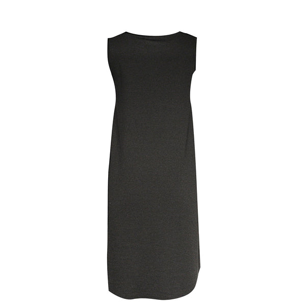 BLACK SLEEVELESS DRESS - VDR
