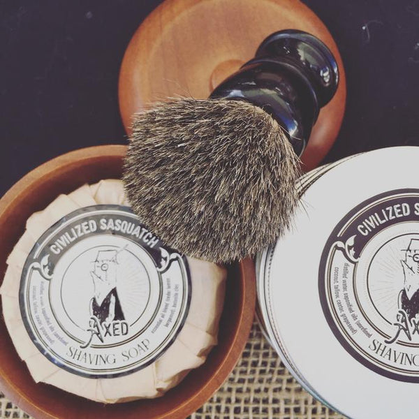 PURE BADGER | SHAVE BRUSH BLACK WITH RESIN HANDLE