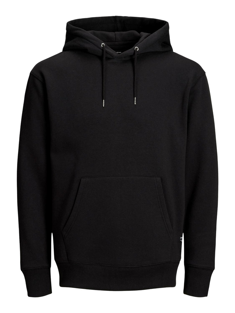 HOODED SWEATER - BLACK