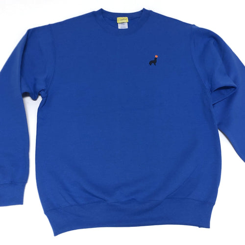Buddy Embroidered Crewneck (Blue)