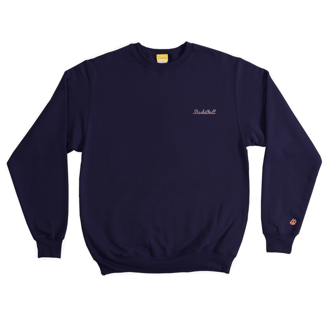 Navy Basketball Crewneck