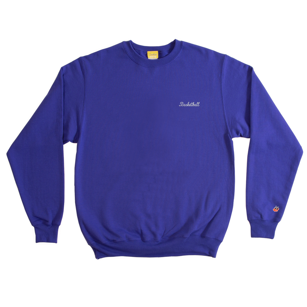 Royal Blue Basketball Crewneck