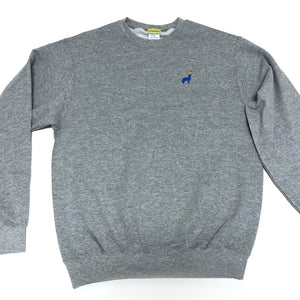 Buddy Embroidered Crewneck (Gray)