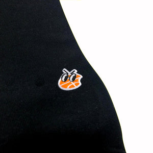 Basketball Embroidered Crewneck (Black)