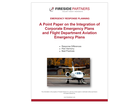 Integrating Corporate & Flight Department Emergency Plans