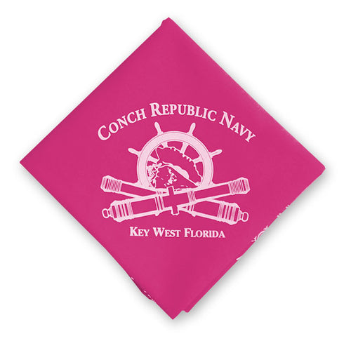 Conch Republic/ Wolf Bandana (Pink)
