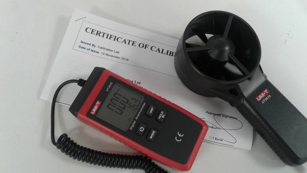 Calibrated Anemometer