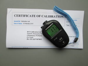 Calibrated infra red thermometer