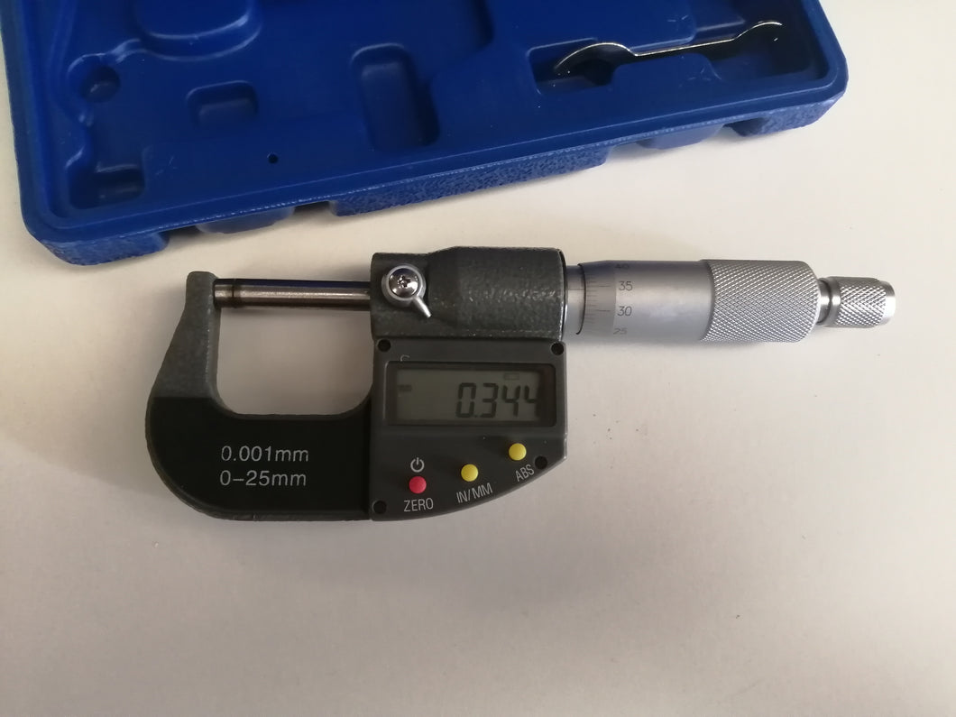 Calibrated micrometer