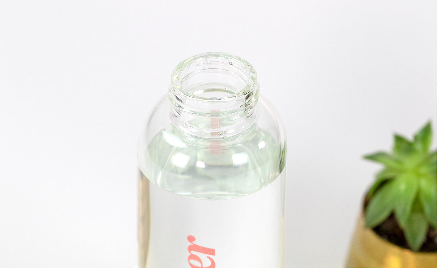 Influenster Glass Water Bottle