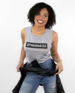 Opinionated Grey Sleeveless