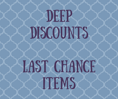 Deeply Discounted and Last Chance Items