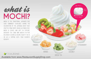 What is Mochi?  Preferred topping for frozen yogurt & shaved snow ice