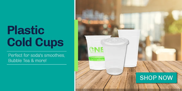 Restaurant To Go Cups | PET Plastic Cups with lids