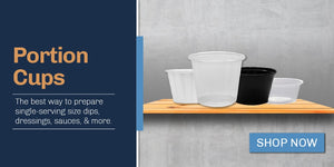 Buy Portion cups and plastic souffle cups from the USA's top distributor.