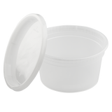 12oz Injection Molded Deli Containers with Lids - 12 oz Soup Containers - 240 ct-Restaurant Supply Drop