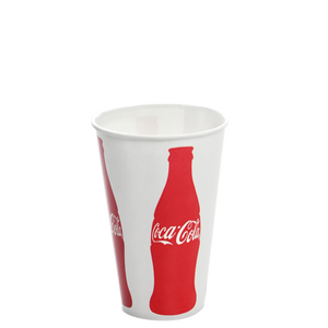 12oz Paper Cold Cups - Coca Cola (84mm) - 1,000 ct-Restaurant Supply Drop