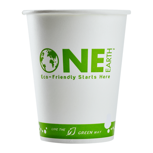 Karat Earth 12oz Eco-Friendly Paper Cold Cups - One Cup, One Earth - 1,000 ct-Restaurant Supply Drop
