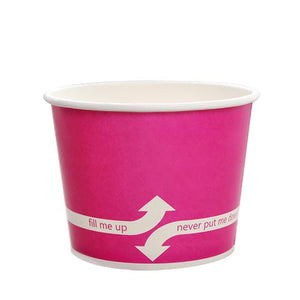 12oz Paper Food Containers - Pink - 1,000 count - 100mm - Karat-To-Go Packaging-Karat-No Lids-Carry Out Supplies