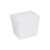 Small Oyster Pails - Paper Food Pail 16oz Chinese Takeout Containers - White - 450 Count-Restaurant Supply Drop