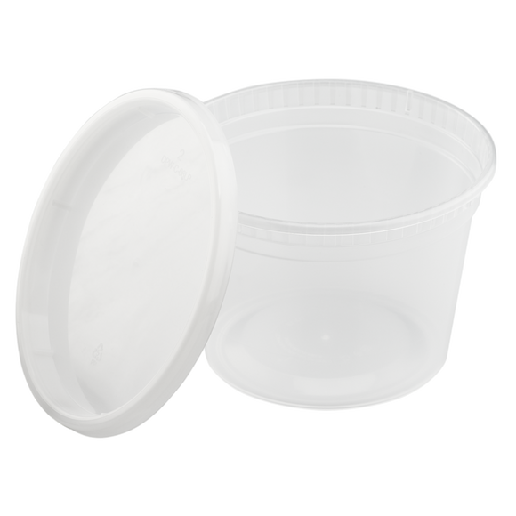 16oz Injection Molded Deli Containers with Lids - 240 ct-To-Go Packaging-Karat-Restaurant Supply Drop