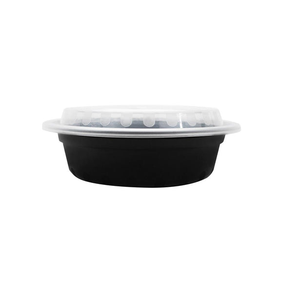 16oz PP Meal Prep Container - Microwavable Round Food Containers & Lids - Black - 150 ct-To-Go Packaging-Karat-Carry Out Supplies