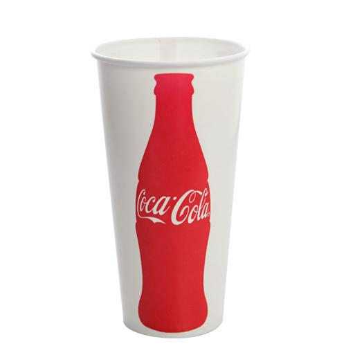 22oz Paper Cold Cups - Coca Cola (90mm) - 1,000 ct-Cups & Lids-Karat-No Lids-Carry Out Supplies