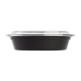 24oz Meal Prep Container - 24 oz Microwavable Round Food Containers & Lids - Black - 150 ct-To-Go Packaging-Karat-Restaurant Supply Drop