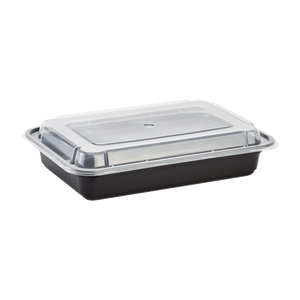 28oz Meal Prep Container - Microwavable Rectangular Food Containers & Lids - Black - 150 ct-To-Go Packaging-Karat-Restaurant Supply Drop
