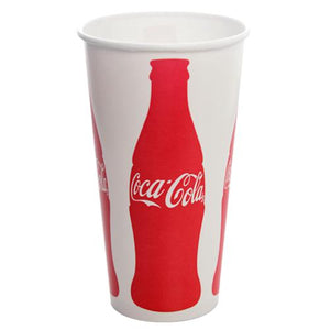 32oz Paper Cold Cups - Coca Cola (104.5mm) - 600 ct-Cups & Lids-Karat-No Lids-Carry Out Supplies
