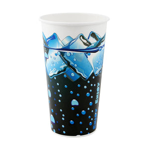 32oz Paper Cold Cups - Ice Cube Print (104.5mm) - 600 ct-Cups & Lids-Karat-No Lids-Carry Out Supplies
