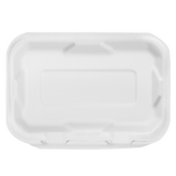 Medium Compostable Food Containers - Karat Earth 9''x6'' Bagasse Hinged Containers - 200 ct-Restaurant Supply Drop