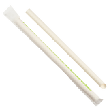 "Paper Colossal Straws - Karat Earth 9"" Colossal Paper Straw Wrapped Diagonal Cut - White - Paper Wrapped (1,600 ct)-Restaurant Supply Drop"