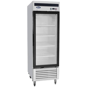 Atosa Bottom Mount One Section Glass Door Reach-In Refrigerator MCF8705-Refrigeration Units-Karat-Carry Out Supplies