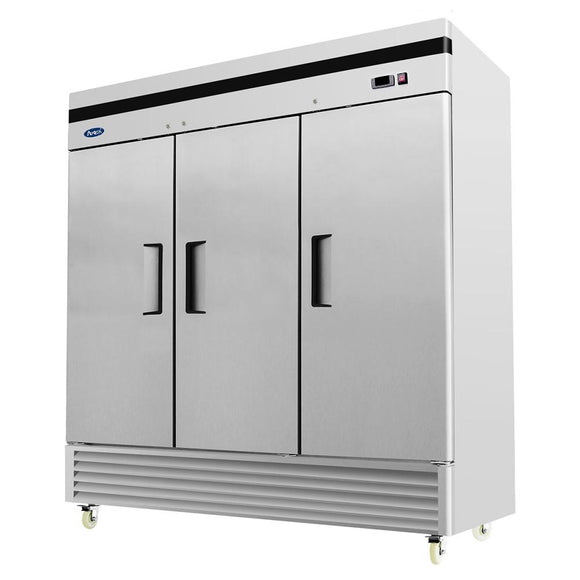 Atosa Bottom Mount Three Section Solid Door Reach-In Refrigerator MBF8508-Refrigeration Units-Karat-Carry Out Supplies