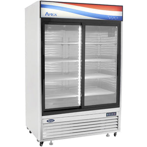 Atosa Bottom Mount Two Section Sliding Glass Door Reach-In Refrigerator MCF8709-Refrigeration Units-Karat-Carry Out Supplies