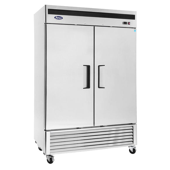 Atosa Bottom Mount Two Section Solid Door Reach-In Refrigerator MBF8507-Refrigeration Units-Karat-Carry Out Supplies