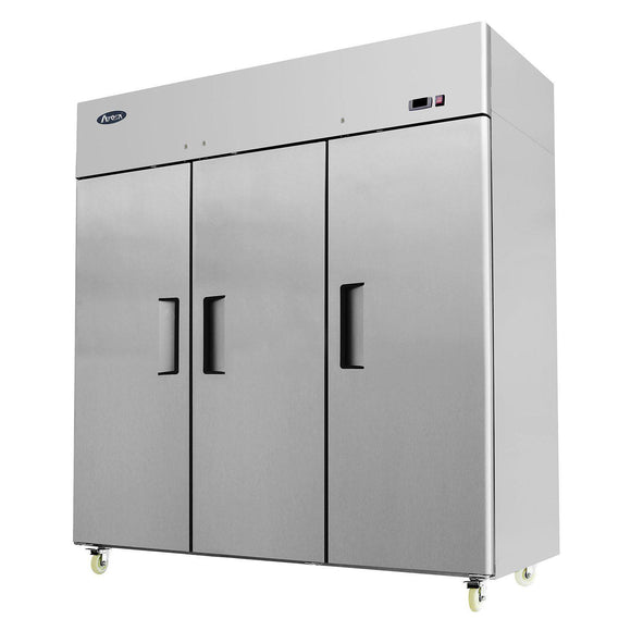 Atosa Top Mount Three Section Solid Door Reach-In Refrigerator MBF8006-Refrigeration Units-Karat-Carry Out Supplies
