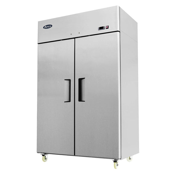 Atosa Top Mount Two Section Solid Door Reach-In Refrigerator MBF8005-Refrigeration Units-Karat-Carry Out Supplies
