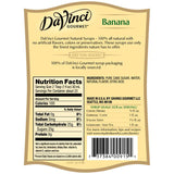 Banana Flavored All Natural DaVinci Syrup Bottle - 700mL-Syrups-DaVinci Gourmet-Carry Out Supplies