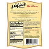 Black Cherry DaVinci Gourmet Syrup Bottle - 750mL-Syrups-DaVinci Gourmet-Carry Out Supplies