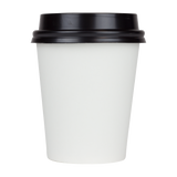 6 oz Disposable Coffee Cups - 6oz Paper Hot Cups - White (70mm) - 1,000 ct-Restaurant Supply Drop