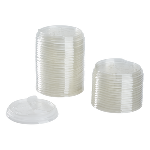 Strawless Sipper Lid 32 oz - Karat 104.5mm Paper Cold Cup Sipper Lids - 600 ct-Restaurant Supply Drop