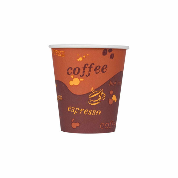 Cafe Coffee Cups 10oz Stock Printed Paper Hot Cups (90mm) - 1,000 ct-Cups & Lids-Karat-No Lids-No Sleeves-Carry Out Supplies