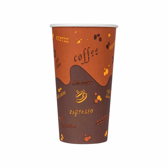 Cafe Coffee Cups | 20oz Stock Print Paper Hot Cups (90mm) - 1,000 ct-Cups & Lids-Karat-No Lids-No Sleeves-Carry Out Supplies