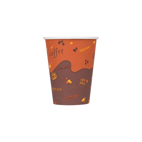 Cafe Coffee Cups | 8oz Stock Print Hot Paper Cups (90mm) - 1,000 ct-Cups & Lids-Karat-No Lids-No Sleeves-Carry Out Supplies
