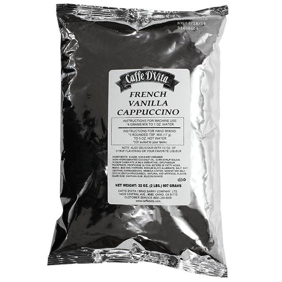 Caffe D'Vita French Vanilla Cappuccino (2 lbs)-Powdered Base-Caffe D'Vita-Carry Out Supplies