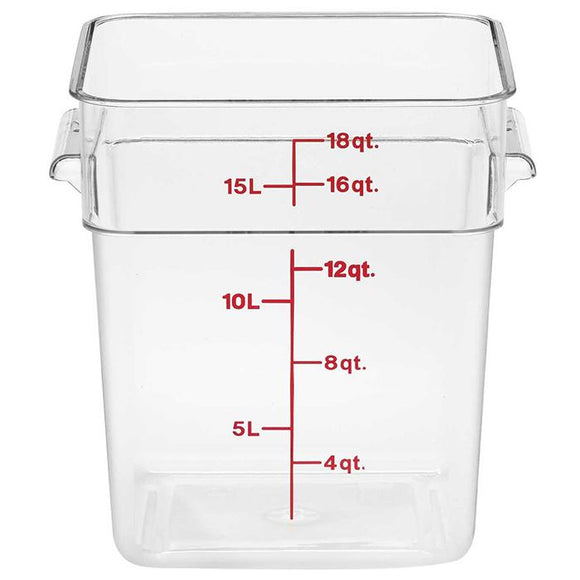 Cambro CamSquare 18qt Square Container-Smallwares-Karat-Carry Out Supplies